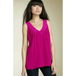 Rory Beca 'Lucy' V-Neck Silk Tank Top
